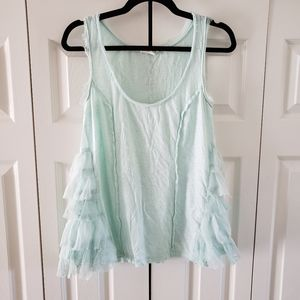Anthro Lilke Mint Green Boho Flowy Tank